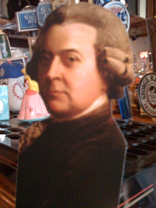 John Adams looking for some Sam Adams?