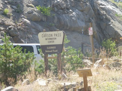 Carson Pass trail head. 8,800 feet elevation ($5 parking fee.)