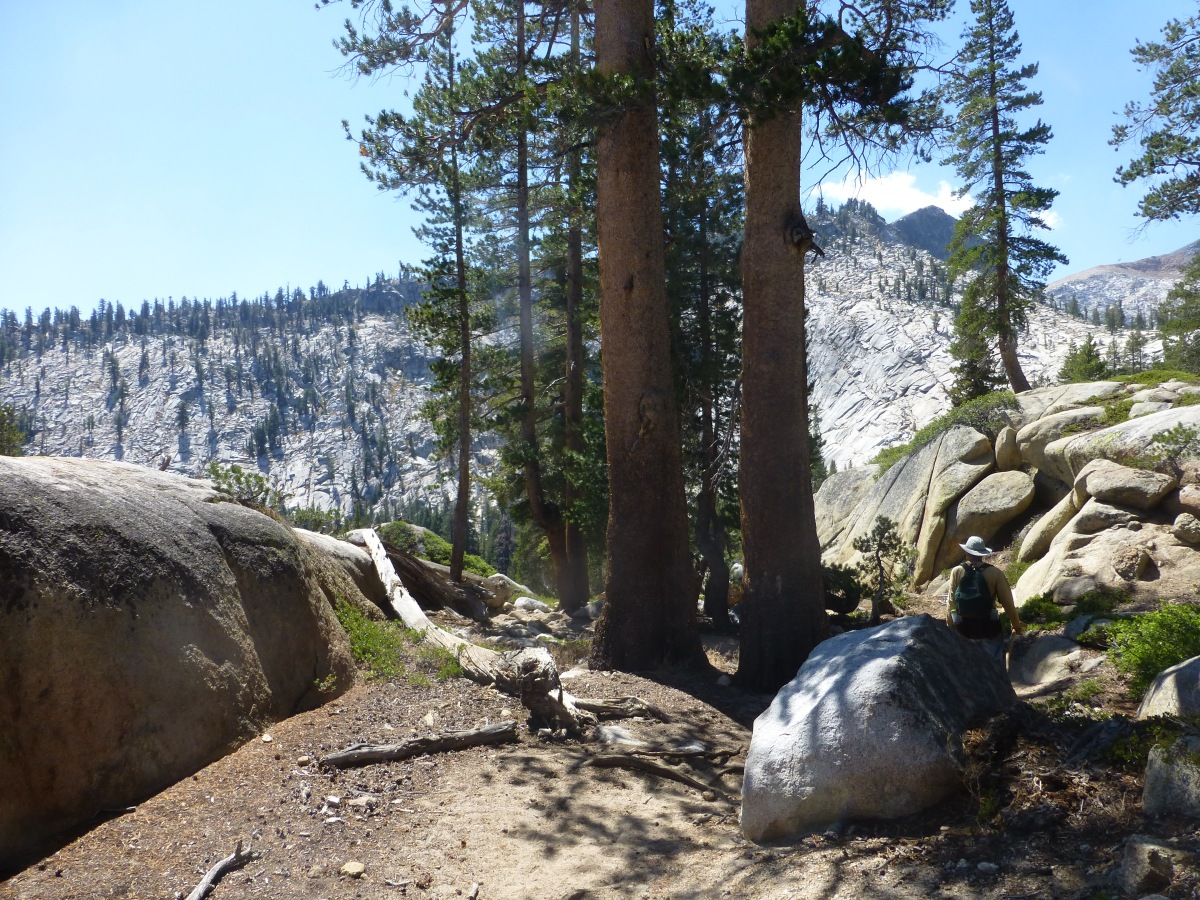 Backpacking out with a much lighter load